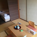 Tatami mat and bed areas
