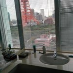 Bathroom had a great view of the Tokyo Tower as well