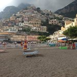 view from positano beach