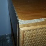 One of two bedside tables - cracked