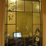 Old World Touches - Etched window glass