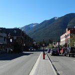 Banff high street with Mount Royal Hotel on the left