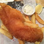 Fish & chips. Fish was so big it was like having a shark on your plate