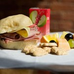 Rated G Meal - Ham & Cheese sandwich, fruit, animal crackers and a juice box. $4.99