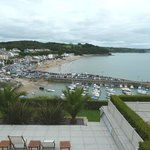 View over Saundersfoot from the dinning room