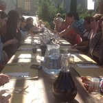 Outdoor dining after a culinary class