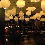 Brilliant lighting in CitizenM, Bankside
