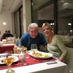 wonderful meal in hotel restaurant, taken by fellow diners
