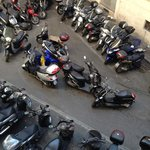 Scooter parking below our room