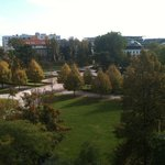 Room view from the rear of the hotel, overlooking the Presidential gardens