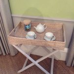 Tea tray in the room