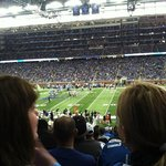 Lions game, lower bowl on the 30 yard line.