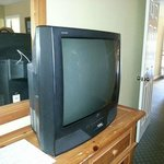 Old television in master bedroom.