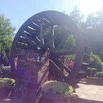 the mill wheel at entrance