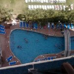View of one of the pools from the 12th floor