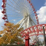 Ferris Wheel at Navy Pier is currently $7 a person.