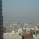 View of Mt Fuji in the distance from my room