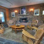 Relax by the fire in the Pioneer Room