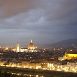 Florence at dusk from Piazze De Michaelangelo