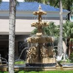 Fountain in the front