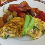 Excellent breakfast including made to order omelets