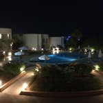 2nd pool area by night