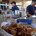 Our excellent potato chips at the pool bar
