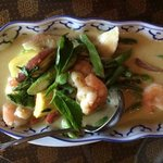 Green curry w/shrimp