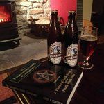 Evenings by the fire enjoying ales, a good book and music