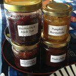 Some of Jan's home made jams with breakfast...