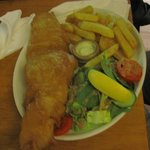 Husband's fish and chips