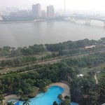 View from 17th floor: hotel pool and towards the Pearl River.