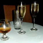 cold drinks(rum & champagne)
