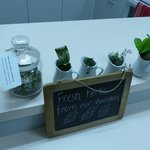 Fresh herbs for guests to use.