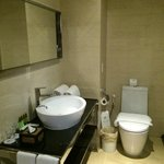 Bathroom has all things that you need but do bring your personal amenities