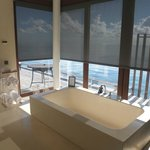 Water Villa bathroom (the shades go up and down)