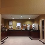 Breakfast Food Bar at the Holiday Inn Express Hotel & Suites Reno