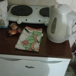 Thats your selfcatering equipment not good and all on top of the fridge