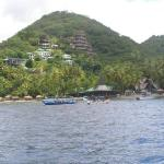 Photo of resort from water