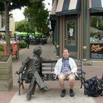 With the statue of Sir John A. MacDonald on Queen St. pretty close to the Province House