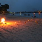 The dreamy beach bonfire in front of Pantai Grill