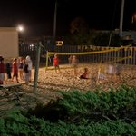 Sand Volley Ball Court at Night