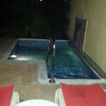 Night view of personal plunge pool