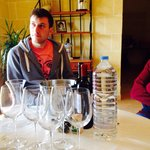 Listening to the history of the winery