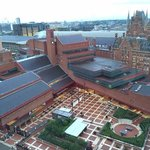 View from our floor The British Library and Kings Cross St Pancras Stations