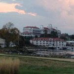 View of the hotel from the golf course.