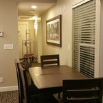 Dining table. Hallway. Closet and laundry room