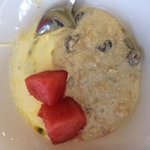 signature marriot bircher muesli but with pssion fruit yog.  yumm! :-)