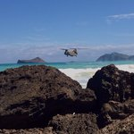 Bellows Beach...military helocast.