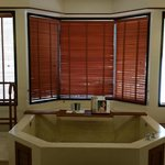 The tub in the master bath